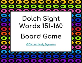 Dolch Sight Words 151-160 Board Game