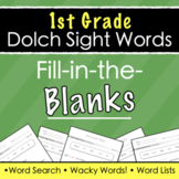 Dolch Sight Words (1st Grade) - Fill-in-the-Blanks + Answe