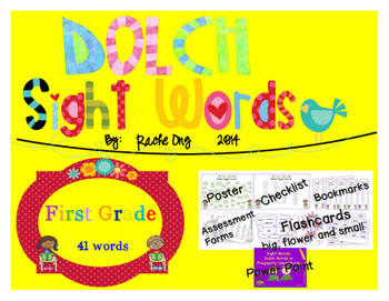 Dolch Sight Words 1st Grade [Bookmarks, Flashcards, Powerpoint and more]