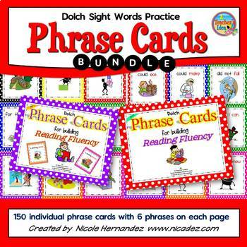 Dolch Sight Words Practice  - {Phrase Cards BUNDLE}
