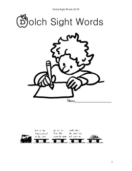 Dolch Sight Words 26-50