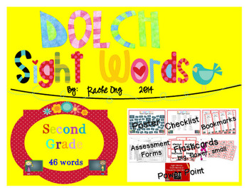 Dolch Sight Words 2nd Grade [Bookmarks, Flashcards, Powerp