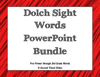Dolch Sight Words 3-second Timed PowerPoints Bundle