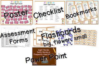 Dolch Sight Words 3rd Grade [Bookmarks, Flashcards, Powerpoint and more]
