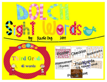 Dolch Sight Words 3rd Grade [Bookmarks, Flashcards, Powerp