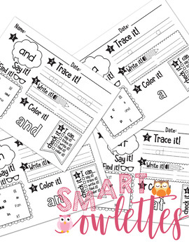 EDITABLE Sight Words - Practice Activities, Lists, Trace and Write