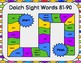 Dolch Sight Words 81-90 Board Game