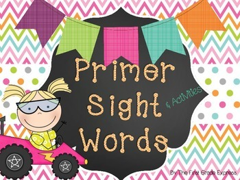 Dolch Sight Words Activities and Flash Cards-Primer