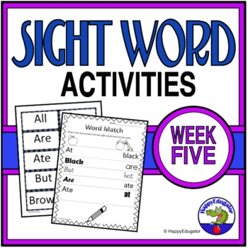Dolch Sight Words Activities - Week 5