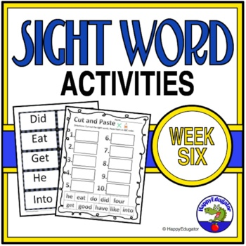 Dolch Sight Words Activities - Week 6