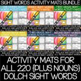 Dolch Sight Words Activity Mats Bundle