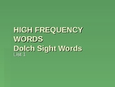 Dolch Sight Words Activity