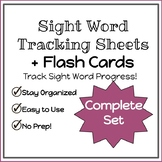Dolch Sight Words Assessment Tracking Sheets and Flashcard