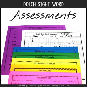 Dolch Sight Words - Assessments
