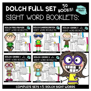 Dolch Sight Words BUNDLE: Complete Sets 1-5: Pre-Primer - Gr. 3