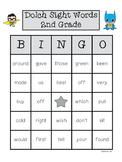 Dolch Sight Words Bingo 2nd Grade