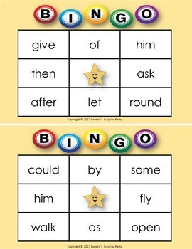 Dolch Sight Words Bingo - First Grade