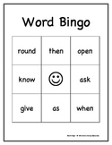 Dolch Sight Words Bingo Game: First Grade