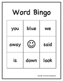 Dolch Sight Words Bingo Game: Pre-Primer