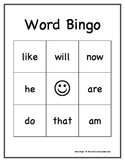 Dolch Sight Words Bingo Game: Primer