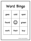 Dolch Sight Words Bingo Game: Second Grade