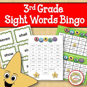 Dolch Sight Words Bingo - Third Grade