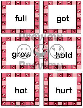 Dolch Sight Words Bingo - Third Grade Valentine