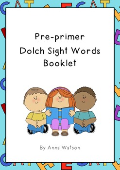 Dolch Sight Words Booklet Pre-Primer