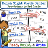Dolch Sight Words Center Activity.  For Preschool to Third Grade
