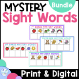 Sight Word Activities | Mystery Words Bundle