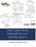Sight Words- Coloring Sheets - Kindergarten {EDITABLE}