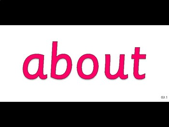 Dolch Sight Words - Digital Flashcards - Grade Three Set 1-3