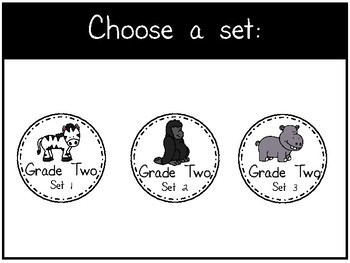 Dolch Sight Words - Digital Flashcards - Grade Two Set 1-3