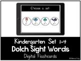 Dolch Sight Words - Digital Flashcards - Kindergarten Set 1-4