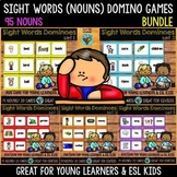 Sight Words Games (95 nouns) Bundle | Dominoes