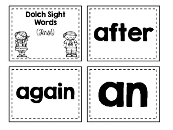 Dolch Sight Words Flash Cards (First)