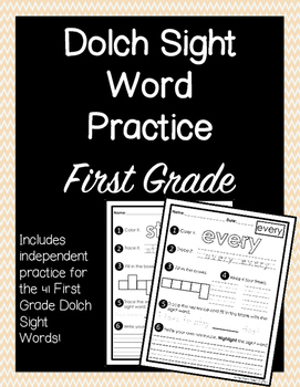 Dolch Sight Words First Grade