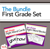 Dolch Sight Words First Grade Books, Flashcards and Assessment Bundle