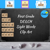 Dolch Sight Words - First Grade - Clip Art