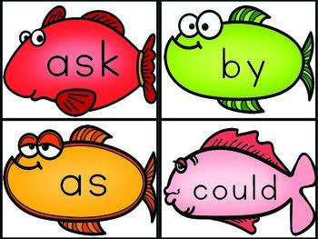 Sight Words First Grade List Fish