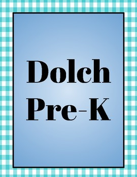 Dolch Sight Words Flash Cards