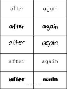 Dolch Sight Words Flash Cards-First Grade