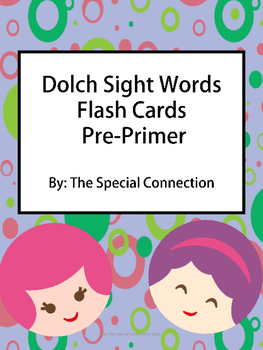 Dolch Sight Words Flash Cards- Pre-primer