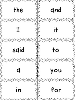 Dolch Sight Words Flash Cards- Preprimer to 3rd Grade