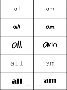 Dolch Sight Words Flash Cards- Primer