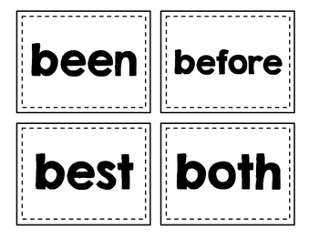 Dolch Sight Words Flash Cards (Second)