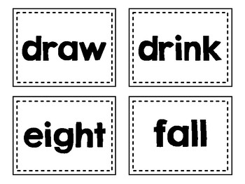 Dolch Sight Words Flash Cards (Third)
