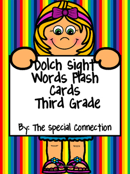 Dolch Sight Words Flash Cards-Third Grade