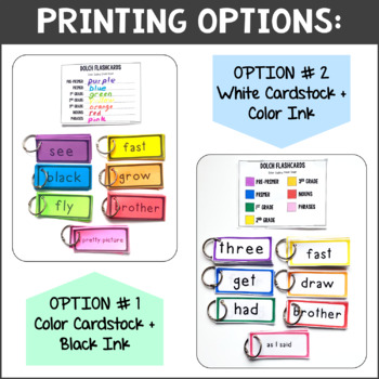 Dolch Sight Words - Flashcards