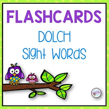 Dolch Sight Words Flashcards  *100 Followers Freebie*